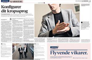 """Severin og Koch: """"Konfigurer dit kropssprog"""" Berlingske Business"""
